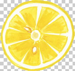 Lemon Transparent Watercolor Watercolor Painting PNG