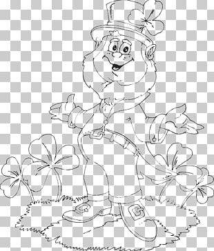 Coloring Book Leprechaun Shamrock Saint Patrick's Day PNG