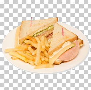 Club Sandwich French Fries Fast Food Ham And Cheese Sandwich Breakfast PNG