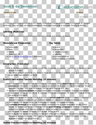 Worksheet Second Grade Teacher Third Grade Lesson PNG