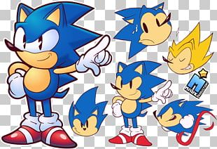 Sonic R Art Doodle Video Game PNG