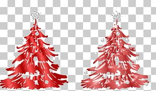 Christmas Tree Christmas Ornament Red PNG