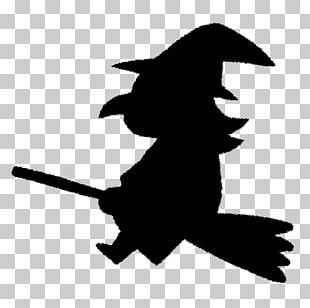 Silhouette Halloween Witch PNG