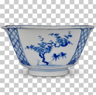 Blue And White Pottery Ceramic Cobalt Blue Saucer Bowl PNG