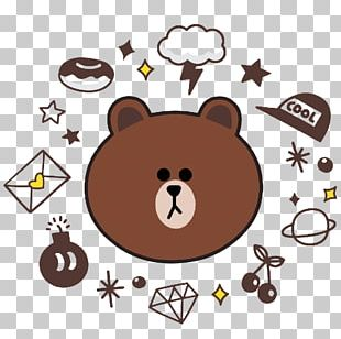 Brown Bear Line Display Resolution PNG