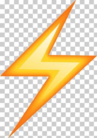 Emoji Lightning Sticker Thunder PNG