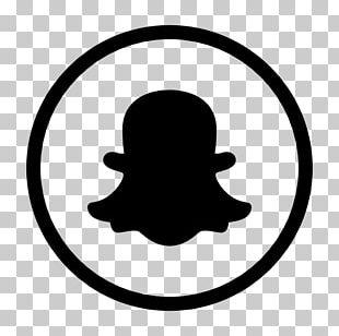 Using Snapchat Logo Social Media Black And White PNG