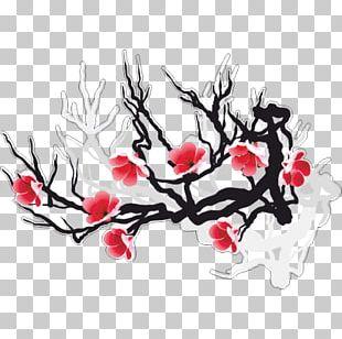 Cherry Blossom Flower Floral Design PNG