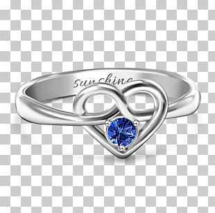 Claddagh Ring Sapphire Birthstone Pre-engagement Ring PNG