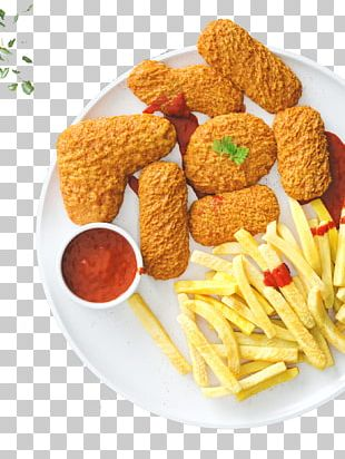 French Fries Chicken Nugget Hamburger Fried Chicken PNG
