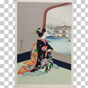 Kinkaku-ji Painting Shin-hanga Geisha Ukiyo-e PNG