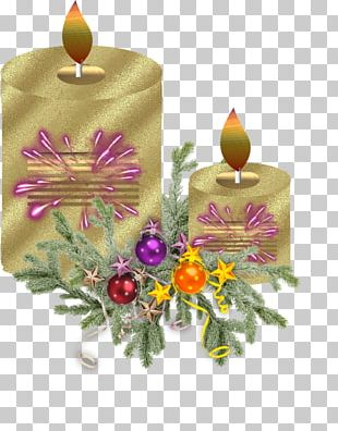 Christmas Ornament Candle Cut Flowers PNG