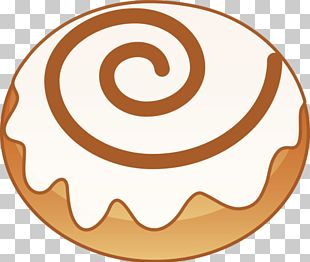 Honey Bun Cinnamon Roll Small Bread PNG