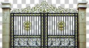 Gate Wrought Iron Fence Driveway PNG