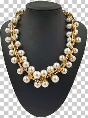 Pearl Earring Necklace Costume Jewelry Jewellery PNG