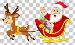 Reindeer Santa Claus Christmas Ornament Illustration PNG