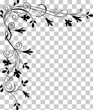 Japanese Border Designs White Flower PNG