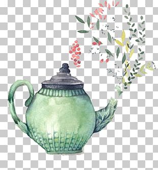 Teapot Watercolor Painting Bridal Shower Teacup PNG