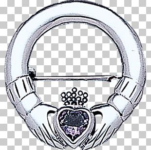 Silver Claddagh Ring Material Body Jewellery Brooch PNG