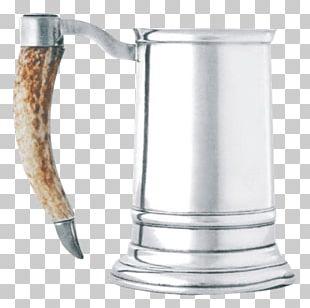 English Pewter Glass Tankard Handle PNG