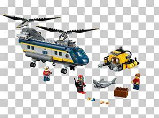 LEGO 60093 Deep Sea Helicopter Lego City Toy Hamleys PNG