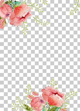 Paper Flower Watercolor Painting PNG