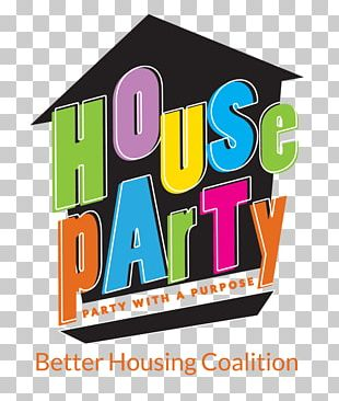 House Party Graphic Design PNG