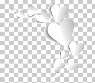 Heart Valentine's Day Tanabata White PNG