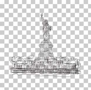 Statue Of Liberty Graphics Eiffel Tower Sketch PNG