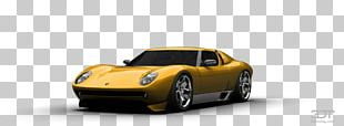 Lamborghini Miura Model Car Automotive Design PNG