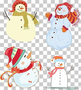 Snowman Christmas Ornament Illustration PNG