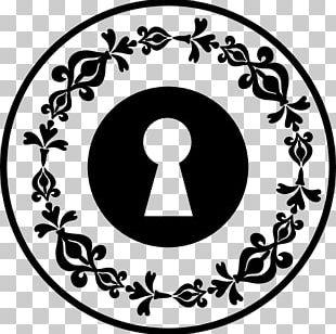 Floral Design Keyhole Lock PNG
