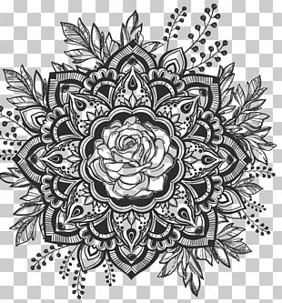 Mandala Drawing Hipster Decal Tattoo PNG