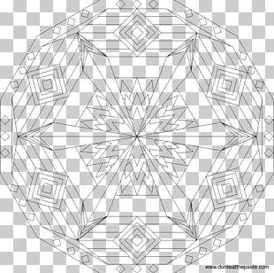 Sand Mandala Sacred Geometry Coloring Book PNG