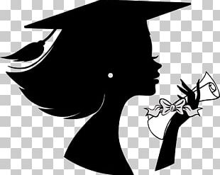 Graduation Ceremony Silhouette Female Girl PNG