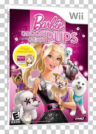 Wii U Barbie: Groom And Glam Pups Barbie As The Island Princess Video Game PNG
