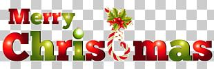 Merry Christmas Candy Text PNG