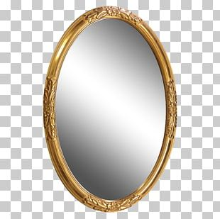 Mirror Light Table Frames Oval PNG