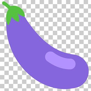 Emoji Eggplant Vegetable Food Text Messaging PNG