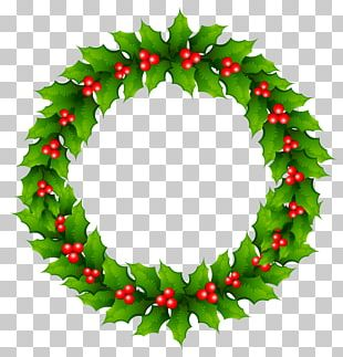 Mistletoe Christmas Wreath PNG