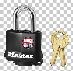 Master Lock Padlock Pin Tumbler Lock Laminated Steel Blade PNG