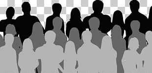 Social Media Audience Crowd Silhouette PNG