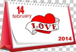 Valentine's Day February 14 Love Gift PNG
