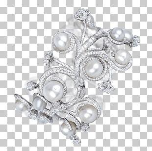 Pearl Earring Jewellery Diamond Brilliant PNG