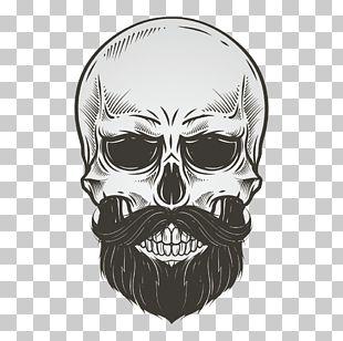 Skull Beard Drawing Illustration PNG