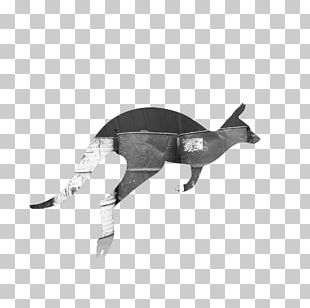 Black And White Kangaroo PNG