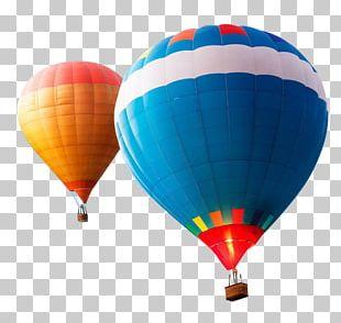 Flight Hot Air Balloon 4K Resolution Mockup PNG