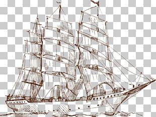 Sailing Ship Drawing PNG
