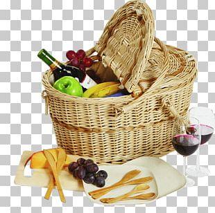 Filled Picnic Basket PNG