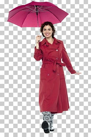 Lady With Umbrella Stock Photography PNG